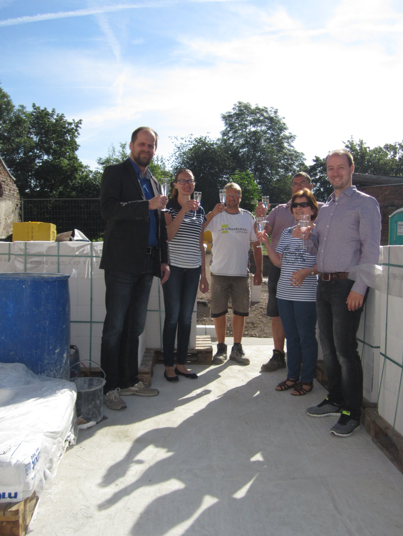 Grundsteinlegung des ersten Einfamilienhauses am Johannestor