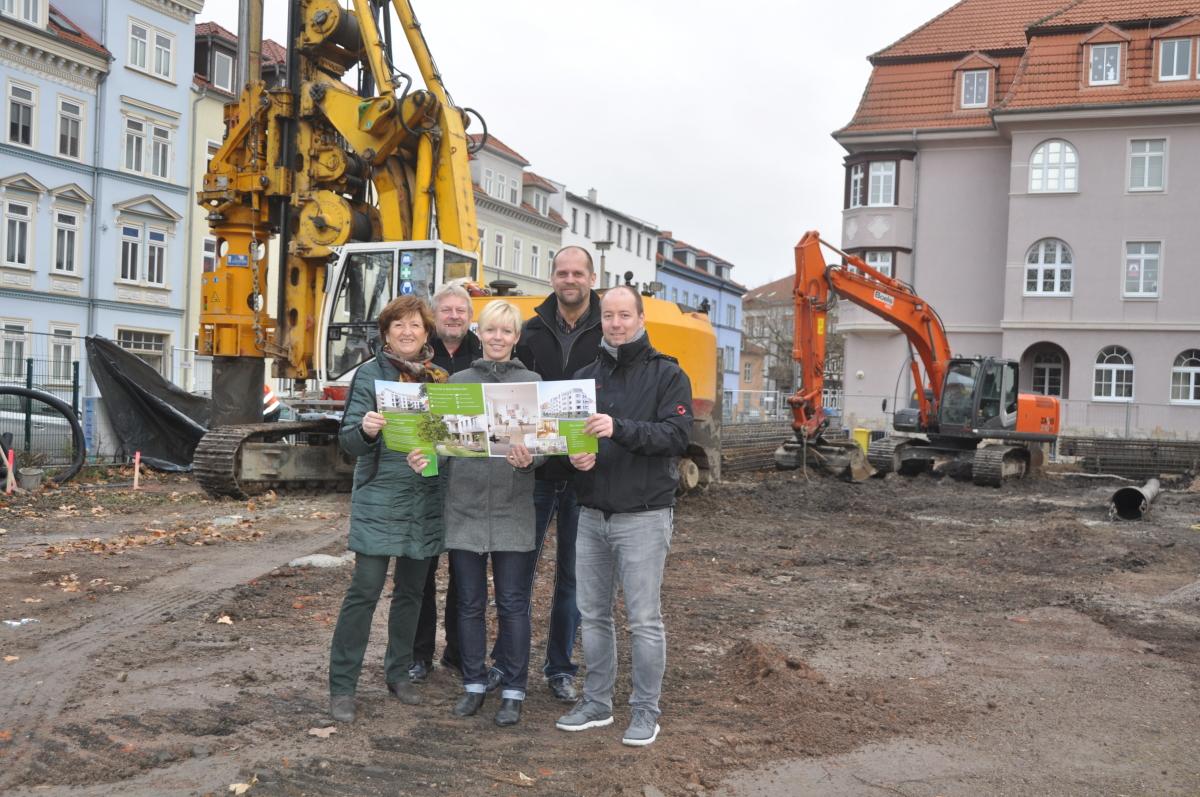 Baustart des neuen Mehrfamilienhauses am Dalbergsweg