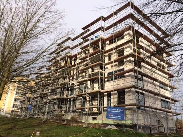 Baufortschritt in Erfurt am Wiesenhügel