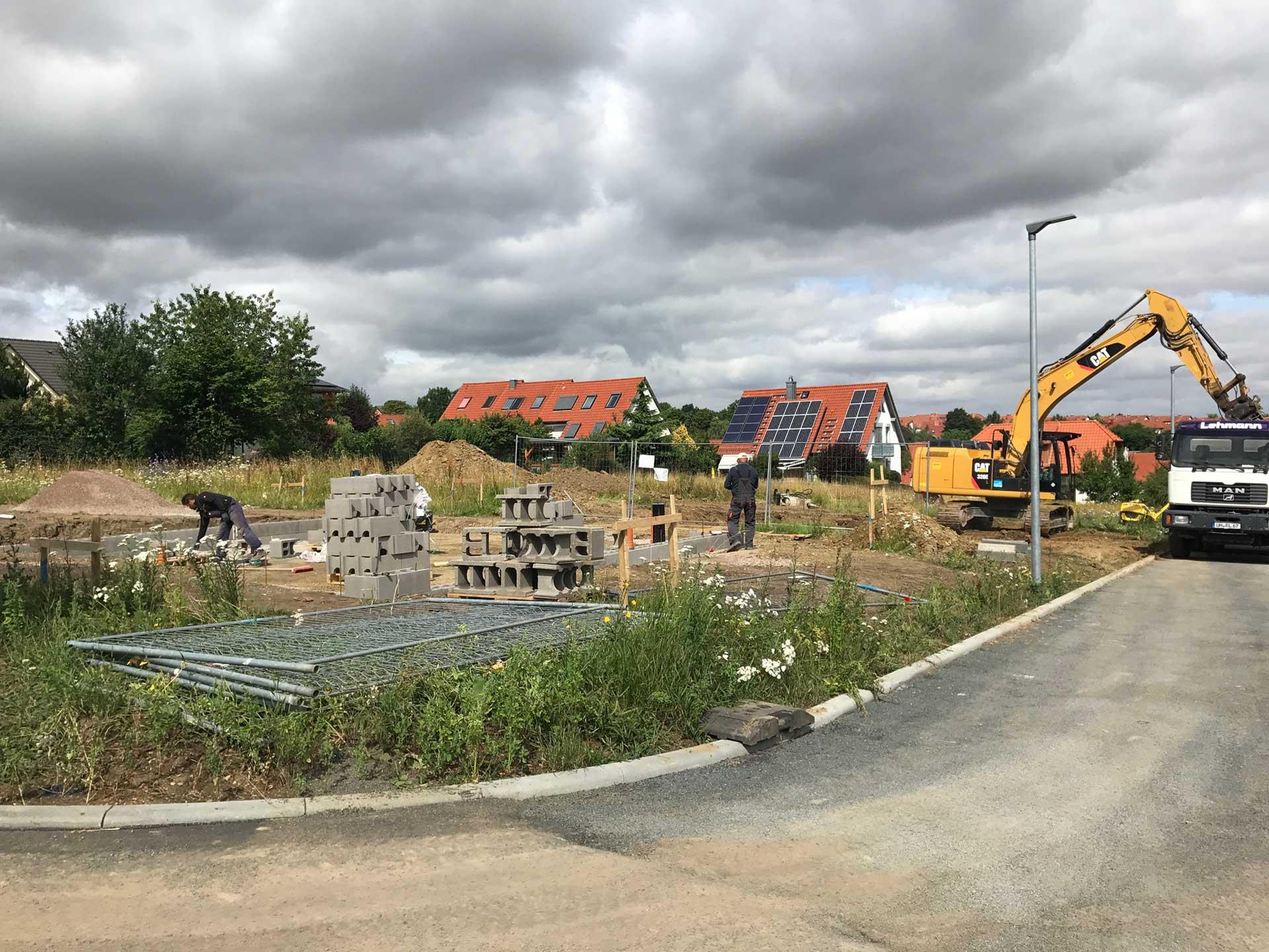 Baubeginn in Erfurt-Salomonsborn