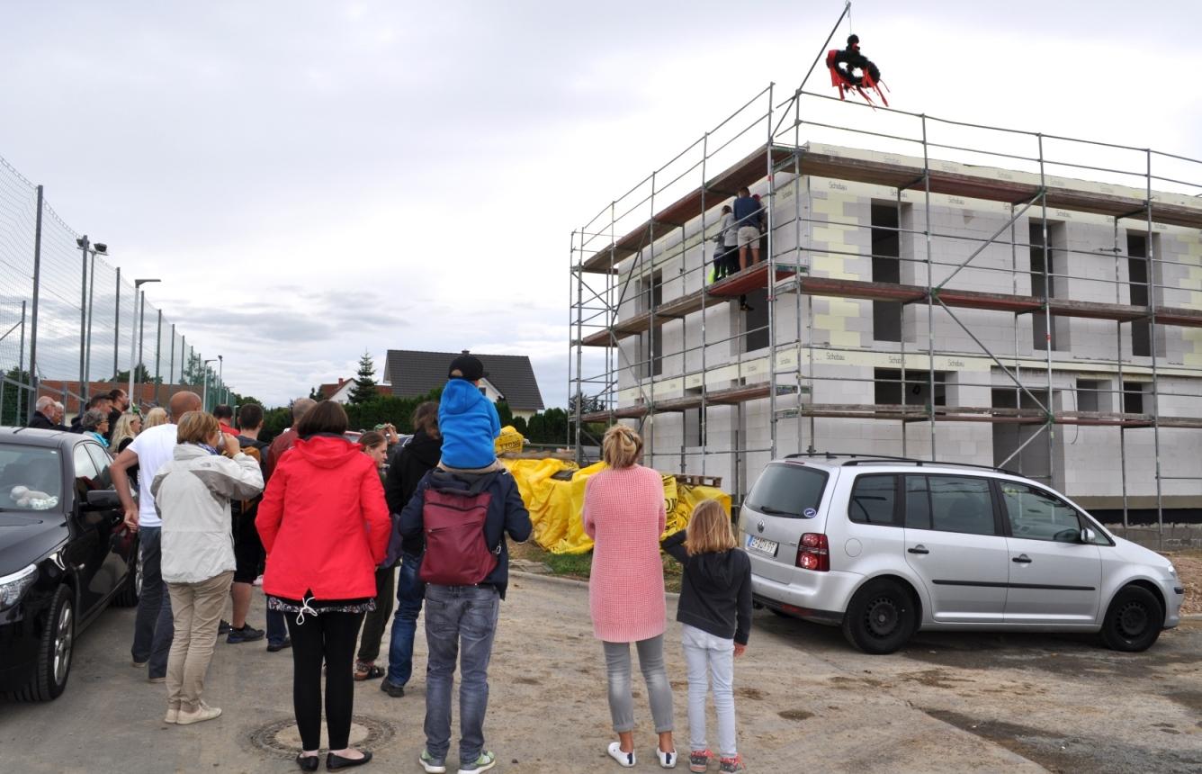 Richtfest der ersten Bauherren in Erfurt-Salomonsborn