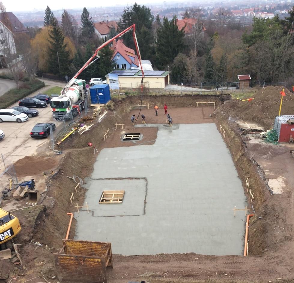 Mehrfamilienhaus im Erfurter Süden – Vorbereitung der Bodenplatte