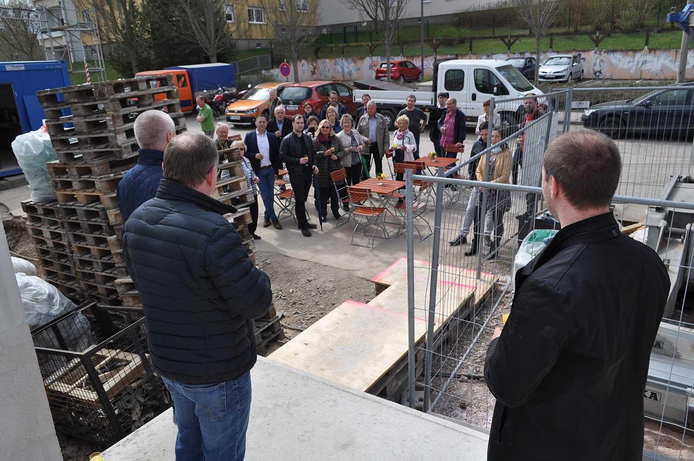 Grundsteinlegung des neuen Mehrfamilienhauses in Erfurt-Süd