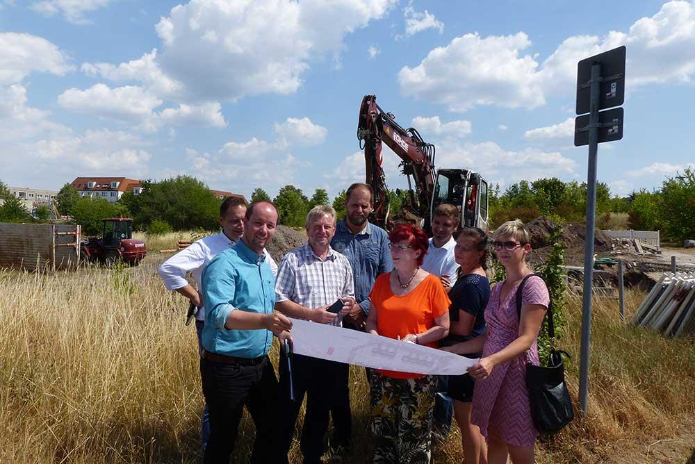"""Erschließungsbeginn des neuen Baugebietes """"Waldblick"""" nahe des Willroder Forstes in Erfurt"""