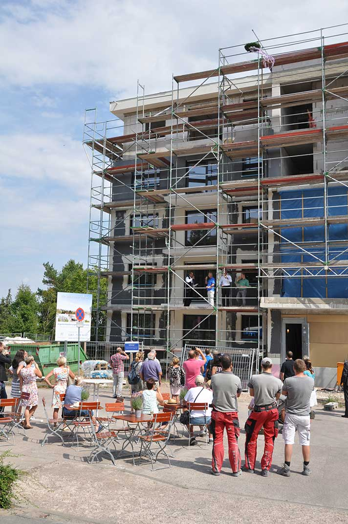 Richtfest unseres neuen Mehrfamilienhauses in Erfurt-Süd