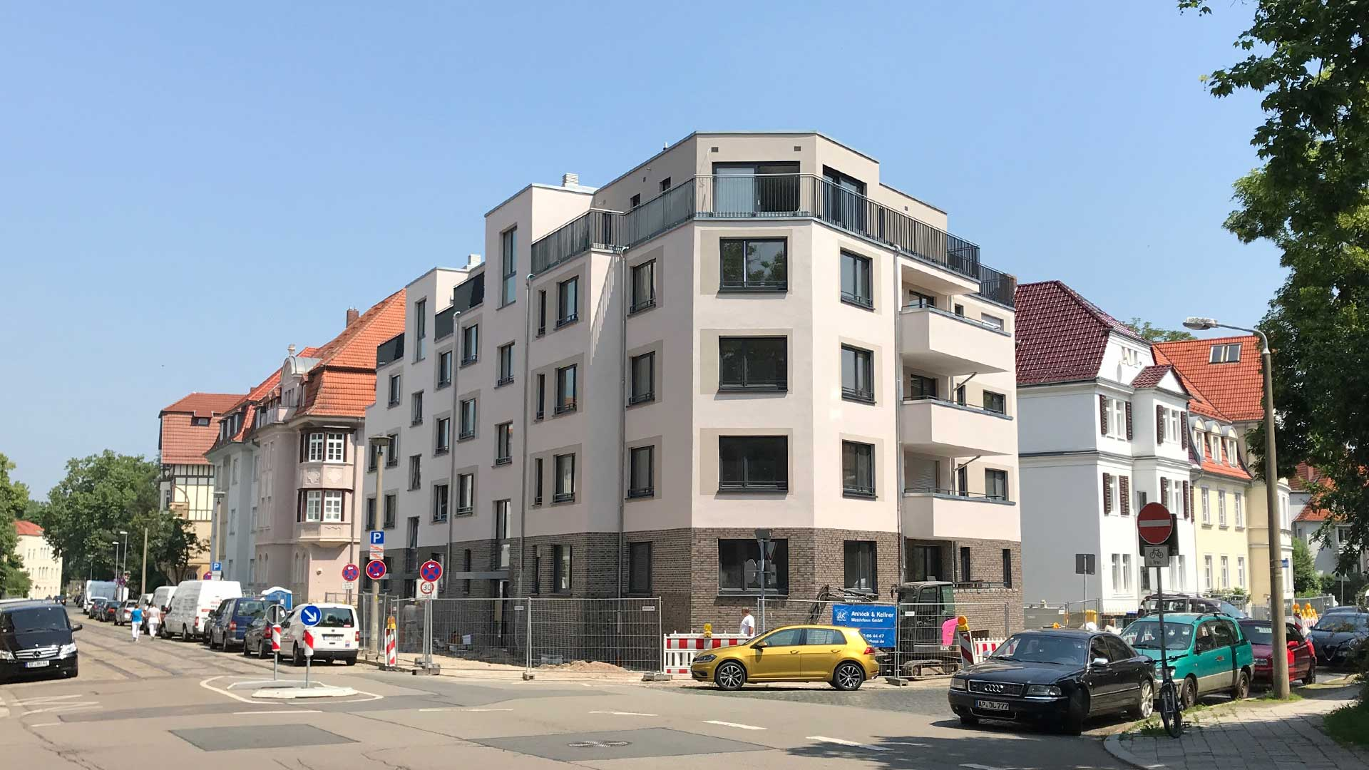 Baufortschritt im Dalbergsweg