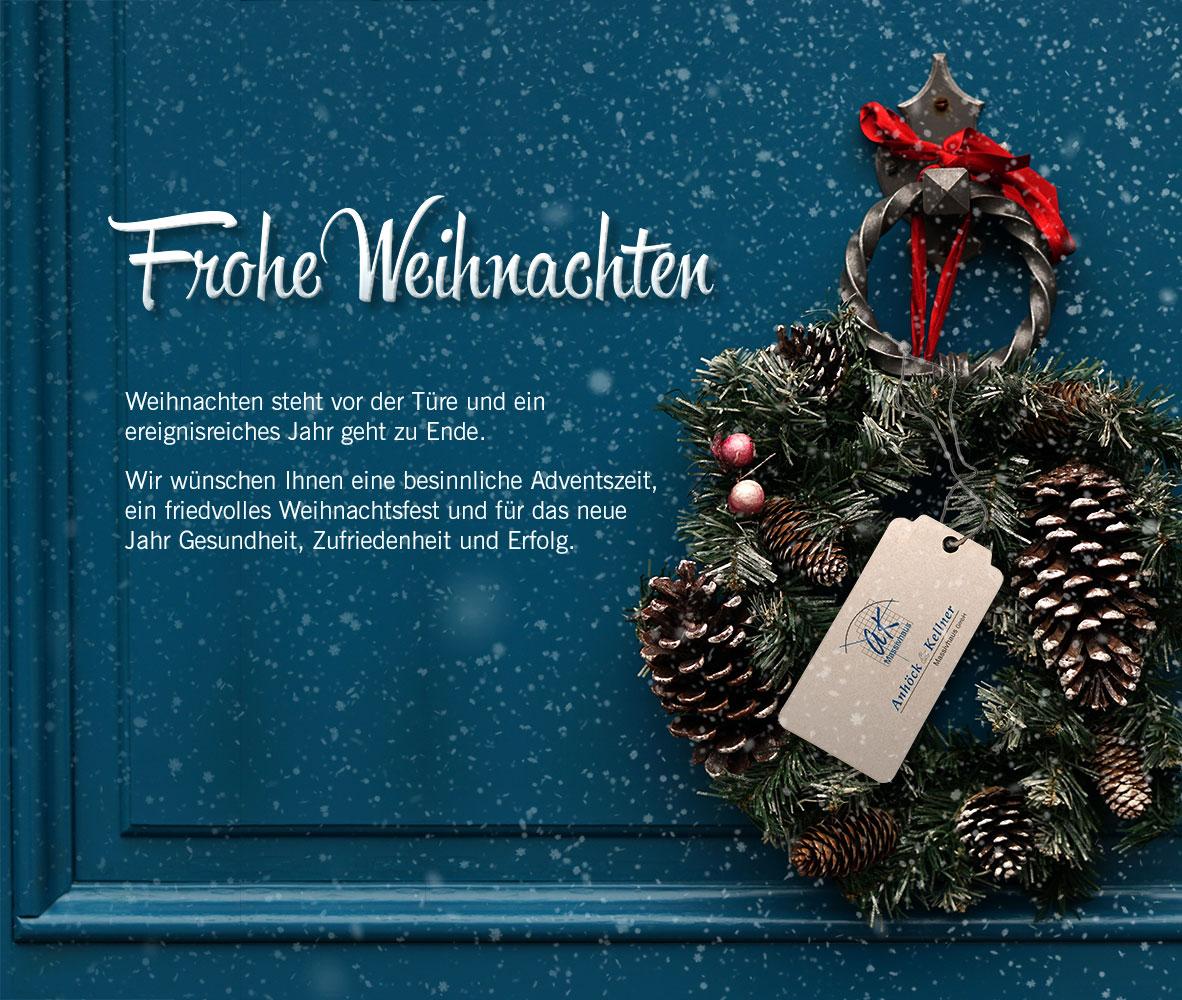 Anhöck & Kellner wünscht Ihnen ein besinnliches Weihnachtsfest
