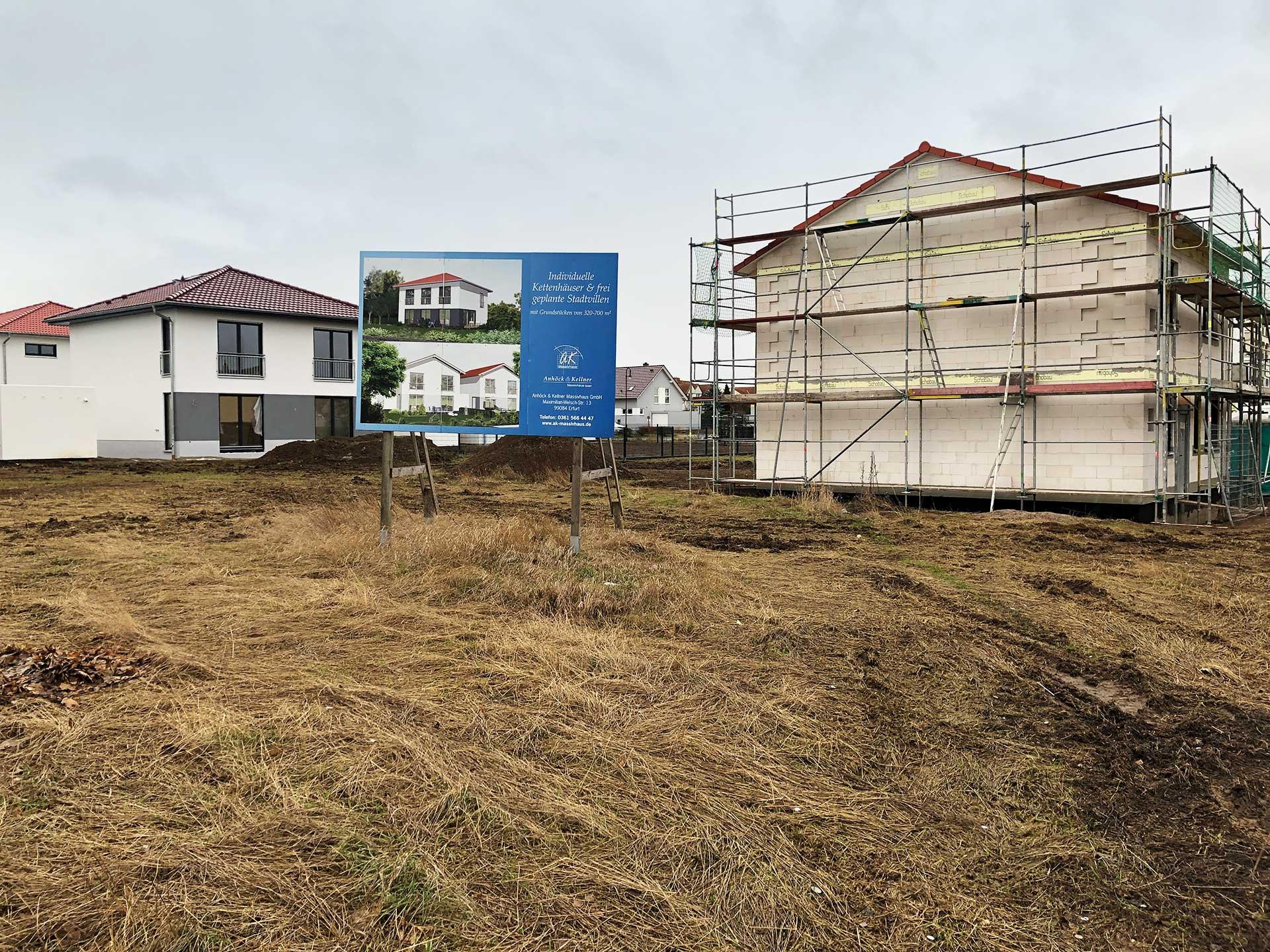 Baufortschritt in Erfurt-Frienstedt