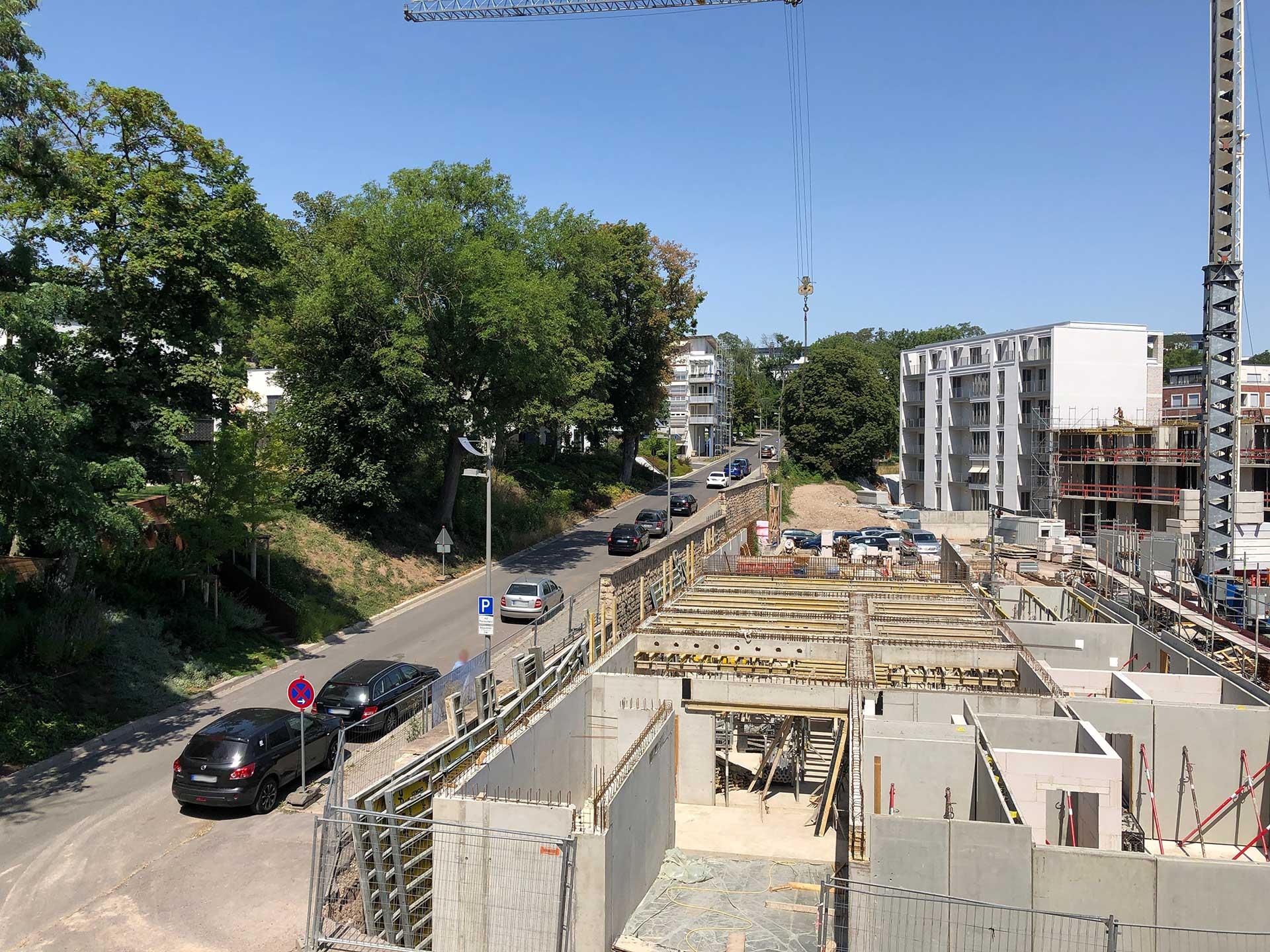 Baustart für das neue Mehrfamilienhaus im Erfurter Brühl ist erfolgt