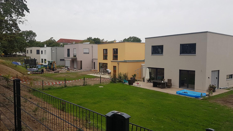 Baufortschritt in Markkleeberg bei Leipzig
