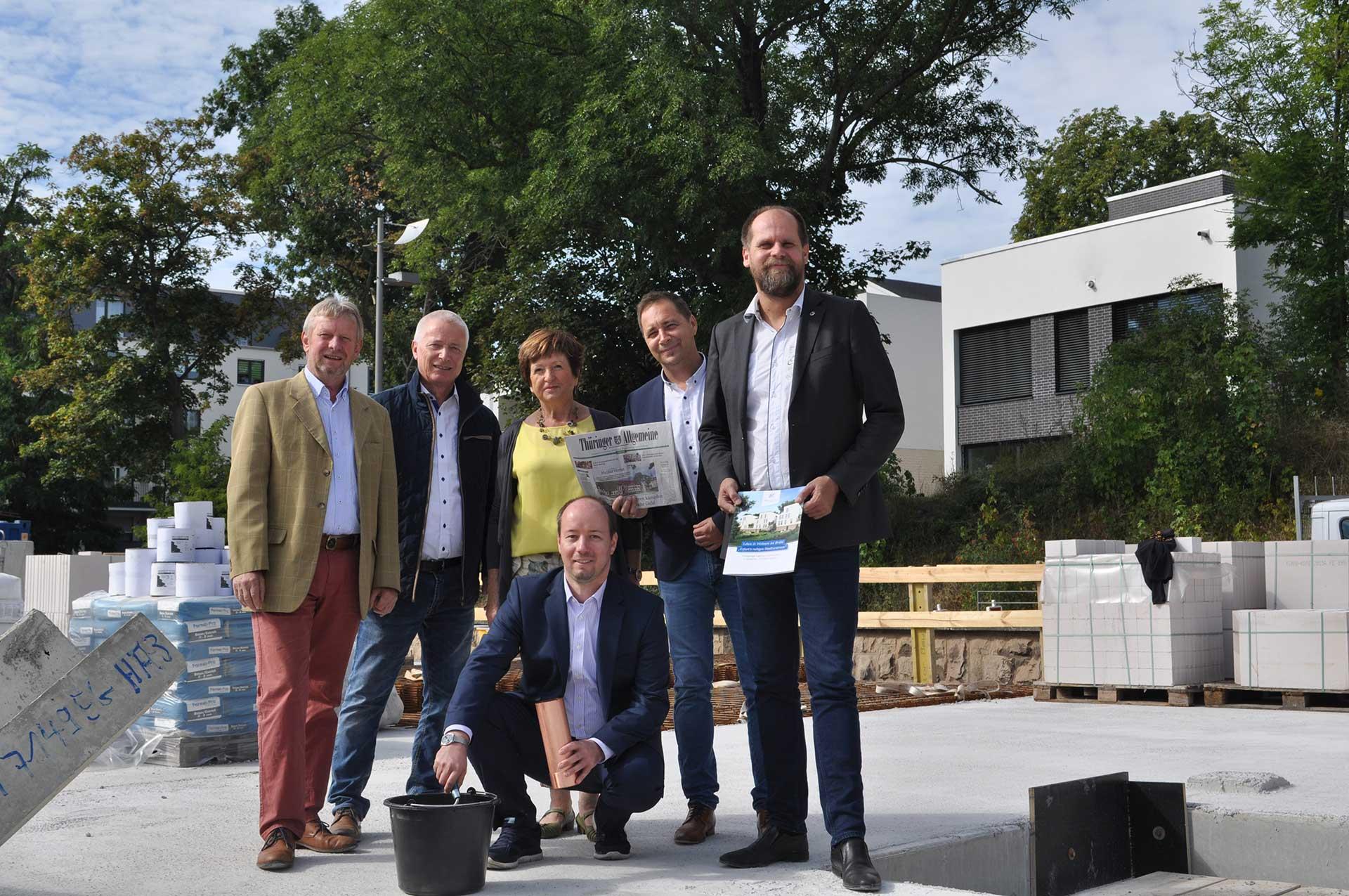 Grundsteinlegung für 12 Eigentumswohnungen im Erfurter Brühl
