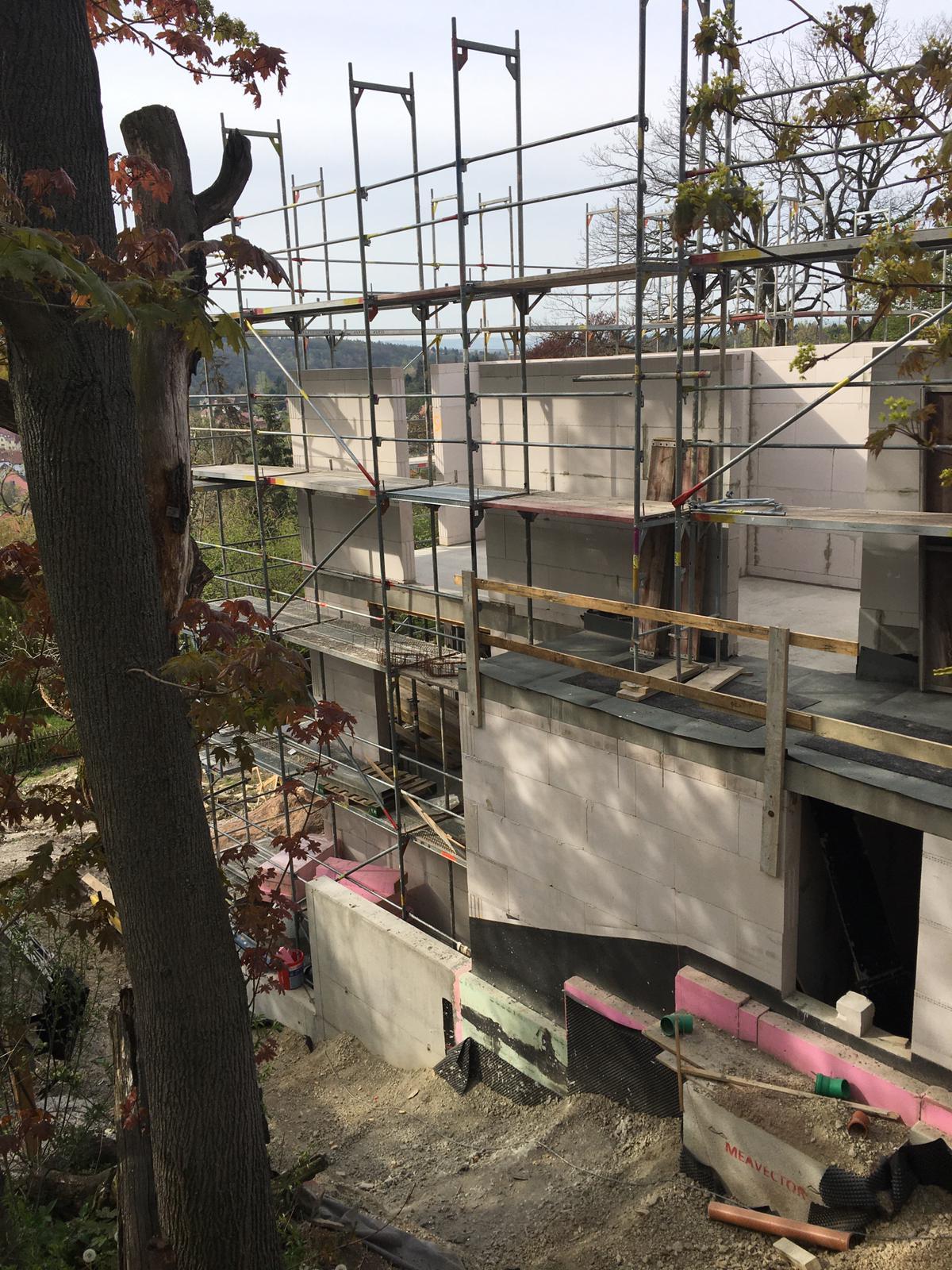Der Bau unserer Eigentumswohnanlage in Erfurt, Wartburgstraße geht gut voran